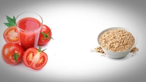 ماسک گوجه فرنگی و جو دوسر برای تقویت و سفید کردن پوست بسیار کارامد است