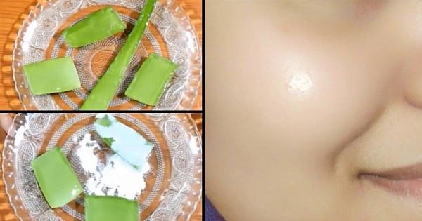 اسکراب آلوئهورا و آرد برنج برای تغذیه و لایه برداری پوست صورت